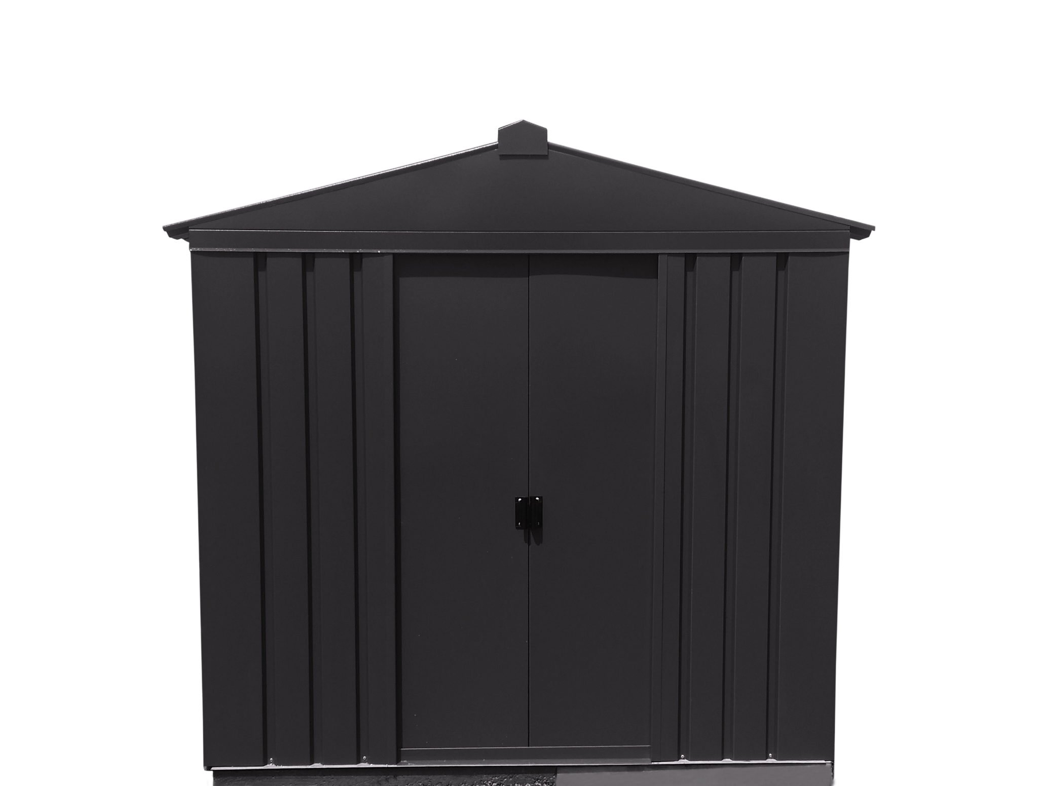 Anthracite metal shed